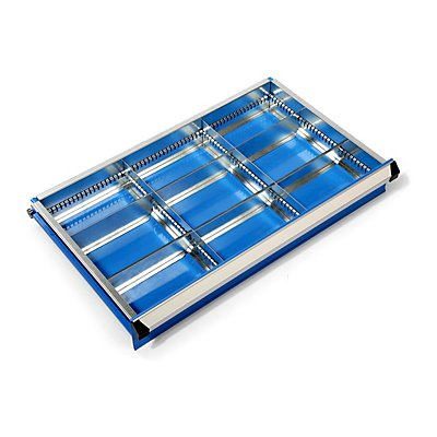 Schubladeneinteilungs-Set - Schrankbreite x -tiefe 700 x 450 mm - Höhe 75 mm, 9 Fächer