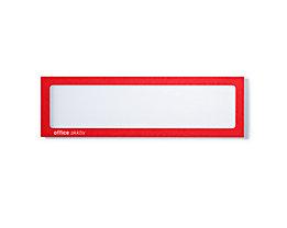 office akktiv Magnetische Infotasche - für Überschriften, DIN A4 hoch / DIN A5 quer, 225 x 60 mm, VE 10 Stk