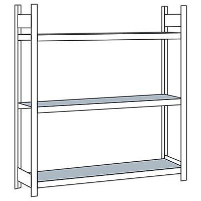 Schulte Weitspannregal, mit Stahlboden, Höhe 2000 mm - Spannweite 1500 mm