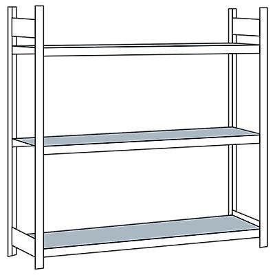 Schulte Weitspannregal, mit Stahlboden, Höhe 2000 mm - Spannweite 2000 mm