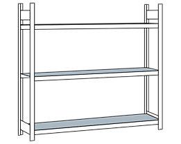Weitspannregal, mit Stahlboden, Höhe 2000 mm - Spannweite 2500 mm