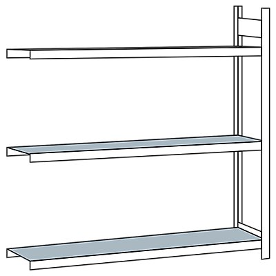 Weitspannregal, mit Stahlboden, Höhe 2000 mm - Spannweite 2000 mm