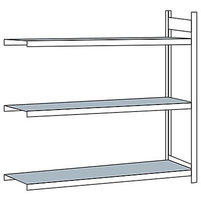 Schulte Weitspannregal, mit Stahlboden, Höhe 2000 mm - Spannweite 2250 mm