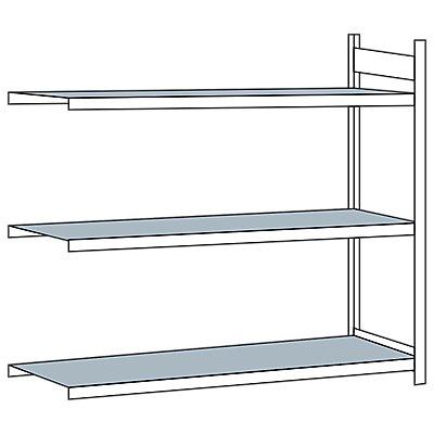 Schulte Weitspannregal, mit Stahlboden, Höhe 2000 mm - Spannweite 2500 mm