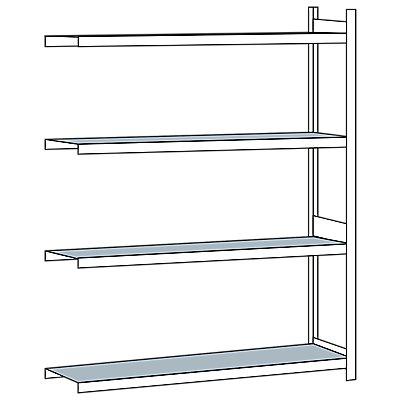 Weitspannregal, mit Stahlboden, Höhe 2500 mm - Spannweite 2000 mm