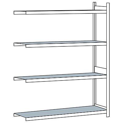 Schulte Weitspannregal, mit Stahlboden, Höhe 2500 mm - Spannweite 2000 mm