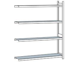 Weitspannregal, mit Stahlboden, Höhe 2500 mm - Spannweite 2250 mm