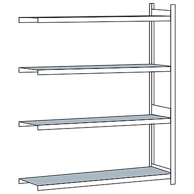 Schulte Weitspannregal, mit Stahlboden, Höhe 2500 mm - Spannweite 2250 mm