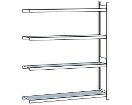 Weitspannregal, mit Stahlboden, Höhe 2500 mm - Spannweite 2500 mm