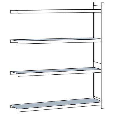 Schulte Weitspannregal, mit Stahlboden, Höhe 2500 mm - Spannweite 2500 mm