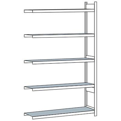 Schulte Weitspannregal, mit Stahlboden, Höhe 3000 mm - Spannweite 1500 mm