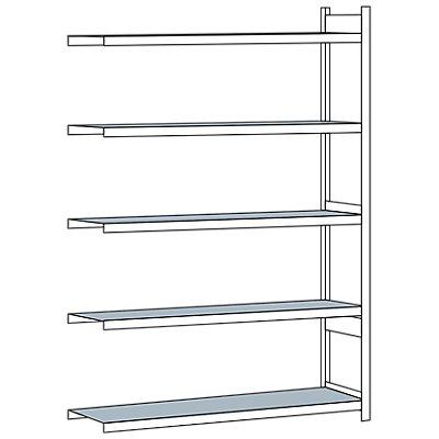 Schulte Weitspannregal, mit Stahlboden, Höhe 3000 mm - Spannweite 2250 mm