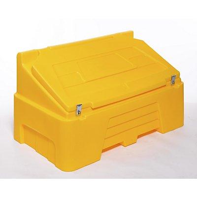 Behälter aus Kunststoff mit Klappdeckel - Inhalt 400 Liter