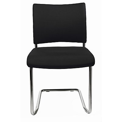 topstar besucherstuhl stapelbar freischwinger r ckenlehne gepolstert ve 2 stk. Black Bedroom Furniture Sets. Home Design Ideas