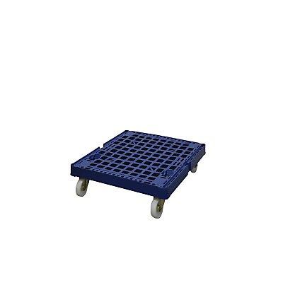 E.S.B. Rollplatte aus Kunststoff, Gesamtlänge 682 mm, enzianblau