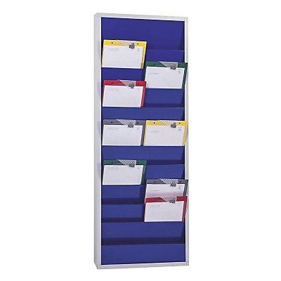 Eichner Planungstafel, mit 10 Schienen - zweireihig, HxBxT 1280 x 554 x 74 mm