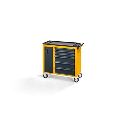 QUIPO Werkstattwagen JUMBO - mit Vertikalauszug und 6 Schubladen