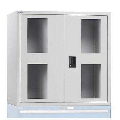 Lista Aufsatzschrank mit Flügeltüren - mit Sichtfenster-Türen