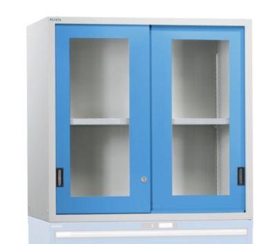 Aufsatzschrank mit Schiebetüren - Türen mit Sichtfenster