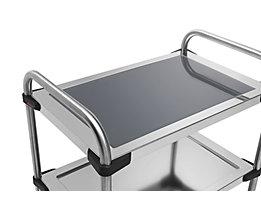 Rieber Einlegeboden für Edelstahl-Servierwagen 640-RL - aus Glas, grau