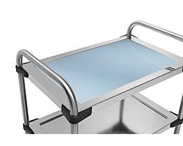 Rieber Einlegeboden für Edelstahl-Servierwagen 640-RL - aus Glas, dunkelblau
