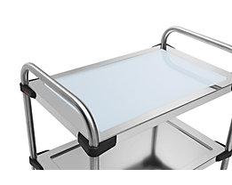 Rieber Einlegeboden für Edelstahl-Servierwagen 640-RL - aus Glas, hellblau