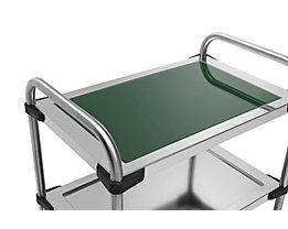 Rieber Einlegeboden für Edelstahl-Servierwagen 640-RL - aus Glas, dunkelgrün