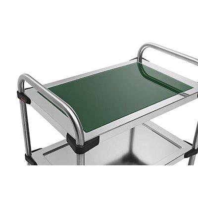 Rieber Einlegeboden für Edelstahl-Servierwagen 640-RL - aus Glas