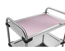 Rieber Einlegeboden für Edelstahl-Servierwagen 640-RL - aus Glas, rosé
