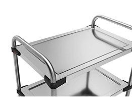 Rieber Einlegeboden für Edelstahl-Servierwagen 640-RL - aus Glas, transparent