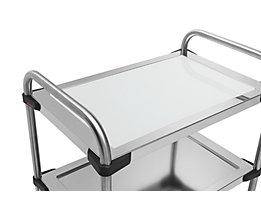 Rieber Einlegeboden für Edelstahl-Servierwagen 640-RL - aus Glas, weiß