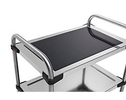 Rieber Einlegeboden für Edelstahl-Servierwagen 640-RL - aus Glas, schwarz
