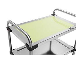 Einlegeboden für Edelstahl-Servierwagen 640-RL - aus Glas, hellgrün