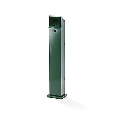 Combiné-colonne cendrier-poubelle - h x l x p 1150 x 180 x 150 mm