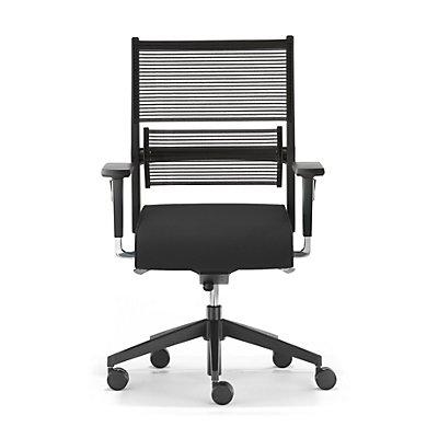 Dauphin Bürodrehstuhl LORDO, Gestell, Kunststoff, Stoff, schwarz