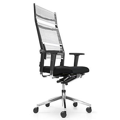 Dauphin Bürodrehstuhl LORDO, Gestell, Aluminium, Leder, schwarz
