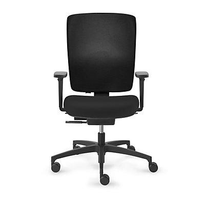 Dauphin Bürodrehstuhl SHAPE ECONOMY2, Vollposter-Rückenlehne, schwarz, Rückenlehnenhöhe 570 - 640 mm