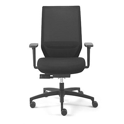 Dauphin Bürodrehstuhl SHAPE ECONOMY2, Rückenlehne mit Netzbespannung, schwarz, Rückenlehnenhöhe 610 mm
