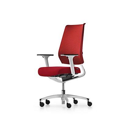 Bürodrehstuhl X-CODE, Gestell aus Aluminium, rot