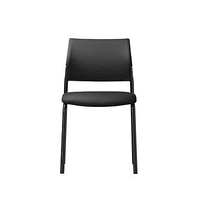 Dauphin Besucherstuhl X-CODE, Vierfußgestell ohne Armlehnen, schwarz