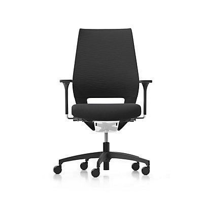 Dauphin Bürodrehstuhl X-CODE, Gestell aus Kunststoff, schwarz