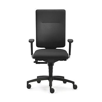 Dauphin Bürodrehstuhl InTouch, Gestell Kunststoff, Stoff, schwarz