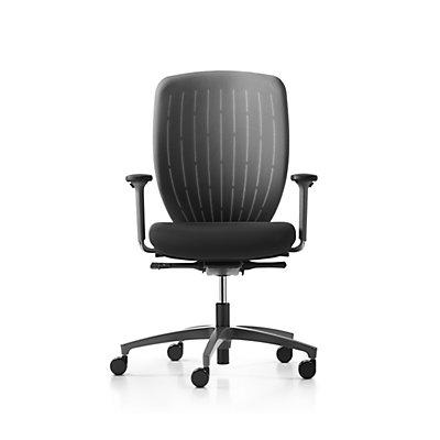 Dauphin Dauphin Bürodrehstuhl KICK-OFF, schwarz - Gestellmaterial Kunststoff