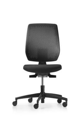 Bürodrehstuhl SPEED-O, Rückenlehne mit Netzbespannung, ohne Armlehnen,