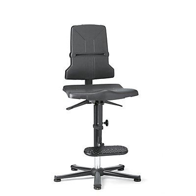 ESD Sintec Arbeitsdrehstuhl, mit Sitzneigungsverstellung, mit Gleitern und Aufstiegshilfe