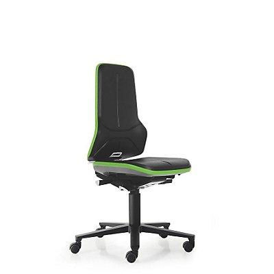 NEON Arbeitsdrehstuhl, Sitzmaterial Integralschaum, Flexband orange