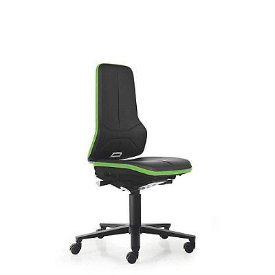 NEON Arbeitsdrehstuhl, Sitzmaterial Kunstleder, ESD, Flexband orange