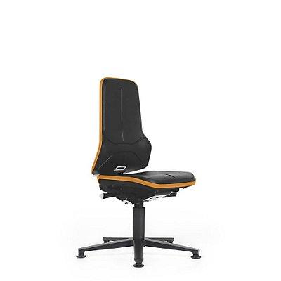 NEON Arbeitsdrehstuhl, mit Gleitern, Sitzmaterial Integralschaum, ESD, Flexband grau
