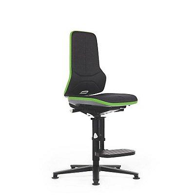 NEON Arbeitsdrehstuhl, mit Aufstiegshilfe, Sitzmaterial Stoff, Flexband grün