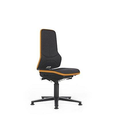 NEON Arbeitsdrehstuhl, Sitzausführung Stoff, ESD, Flexband orange